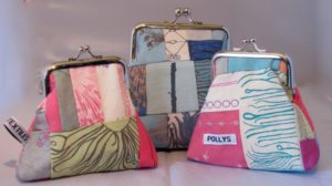 3 clasp purses in assorted colours