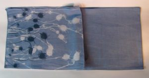 Blue handmade table linen