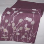 wine dyed linen