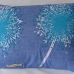 Blue Linen Rectangular Cushion