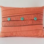coral rectangular cushions