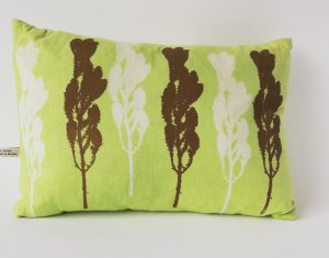 lime green rectangular cushion